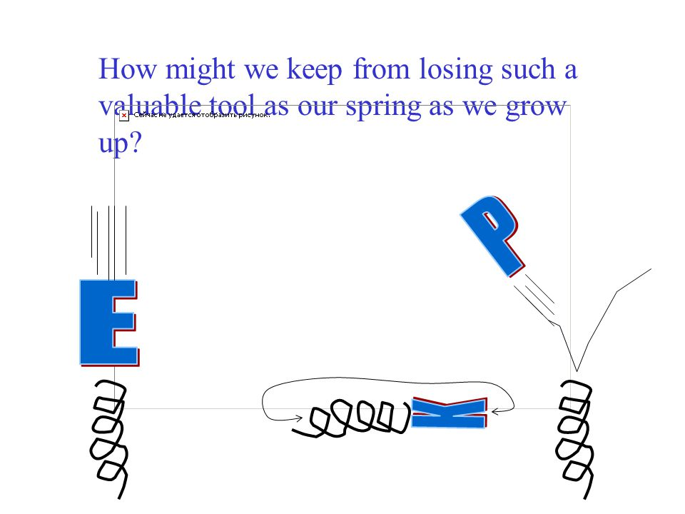 How might we keep from losing such a valuable tool as our spring as we grow up