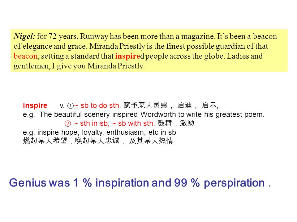 Genius was 1 % inspiration and 99 % perspiration .