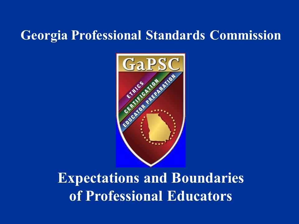Expectations and Boundaries of Professional Educators
