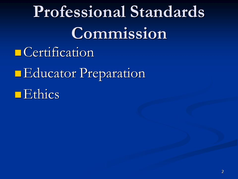 Professional Standards Commission