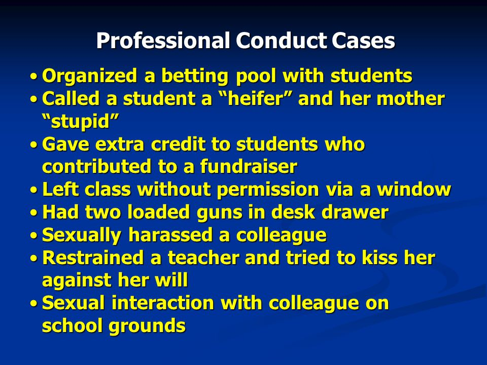 Professional Conduct Cases