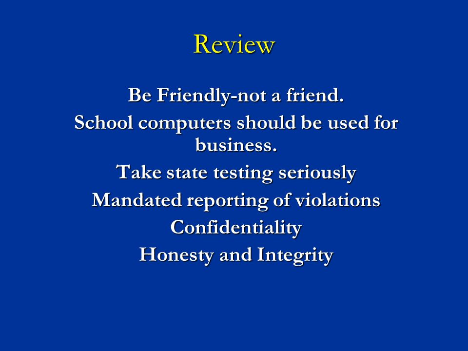 Review Be Friendly-not a friend.