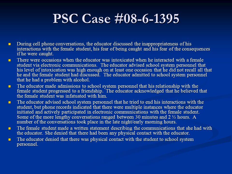PSC Case #08-6-1395