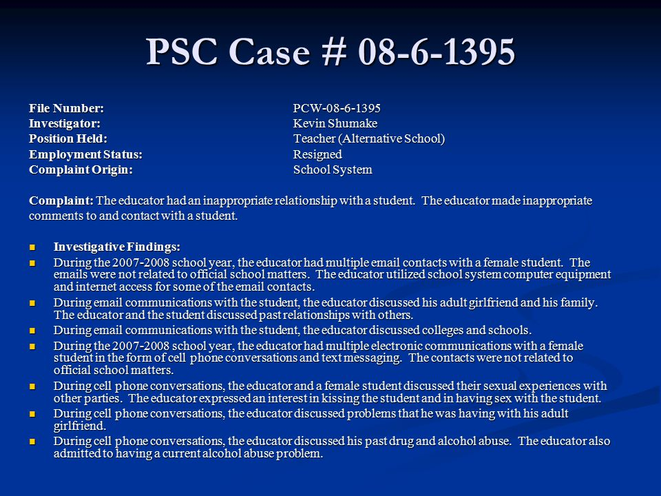 PSC Case # 08-6-1395 File Number: PCW-08-6-1395