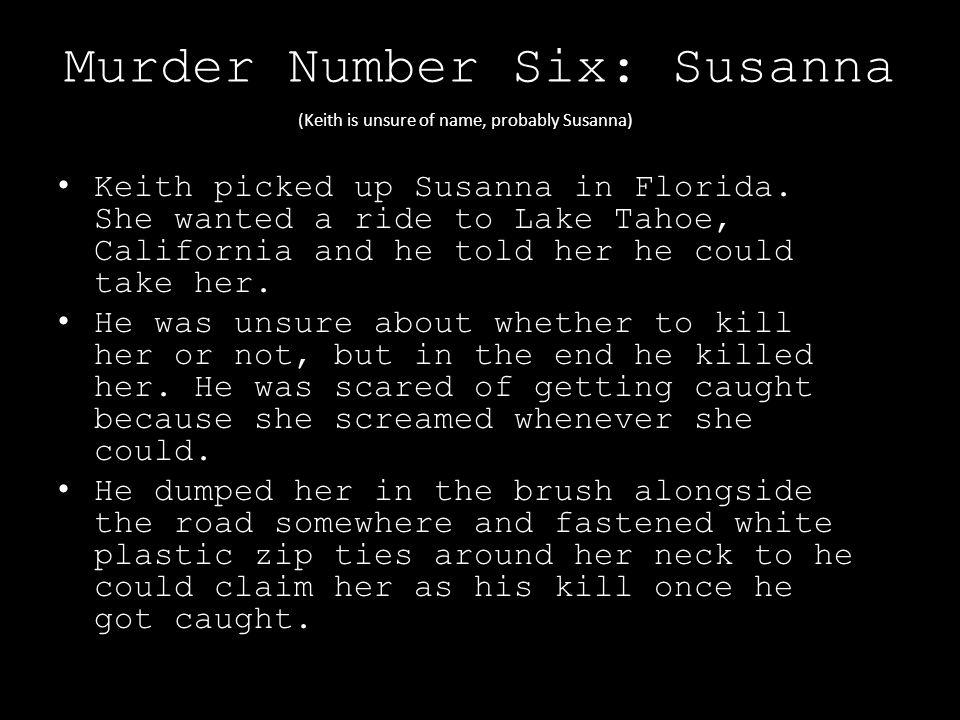 Murder Number Six: Susanna