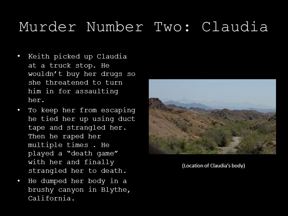Murder Number Two: Claudia