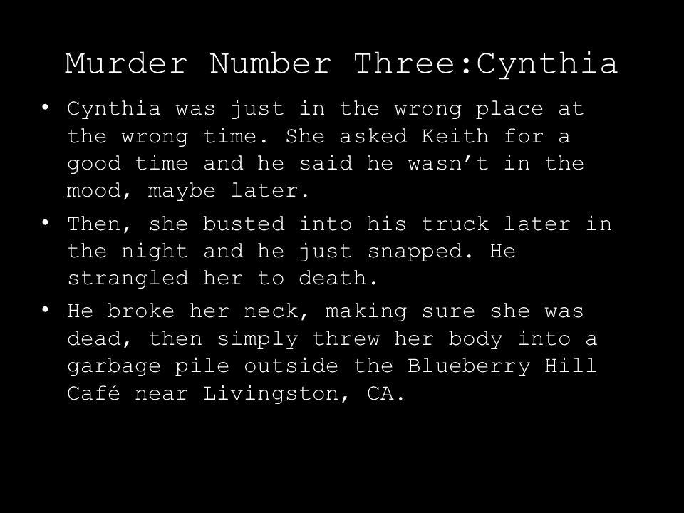 Murder Number Three:Cynthia