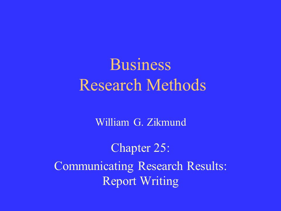 business research report writing format