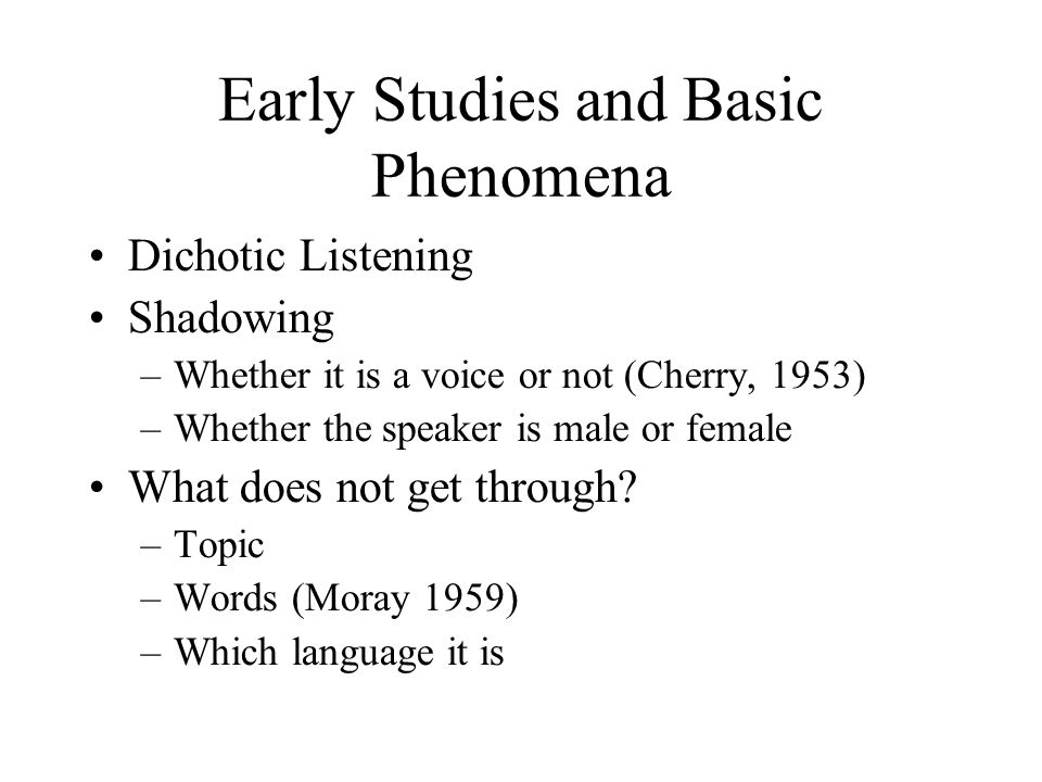 Early Studies and Basic Phenomena