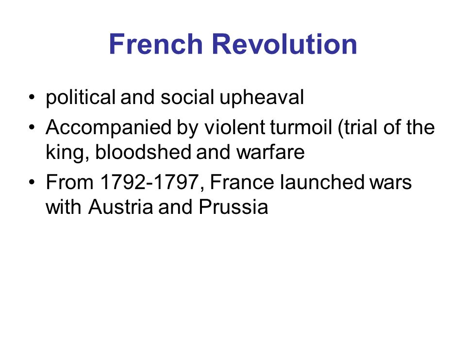 An analysis of political upheavals of the french revolution