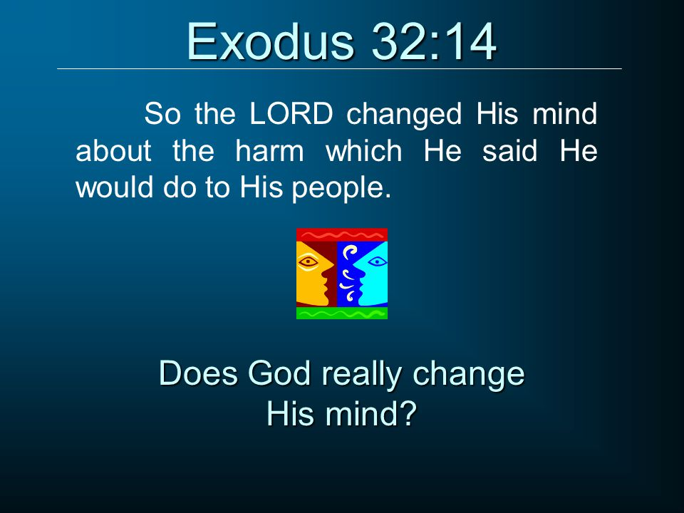Does God really change His mind