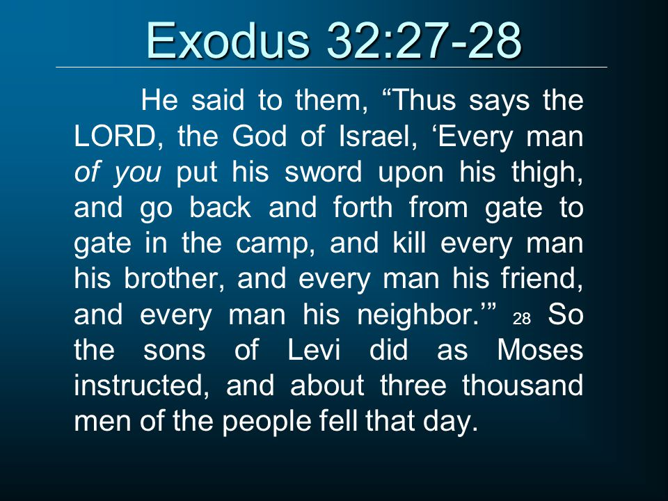 Exodus 32:27-28
