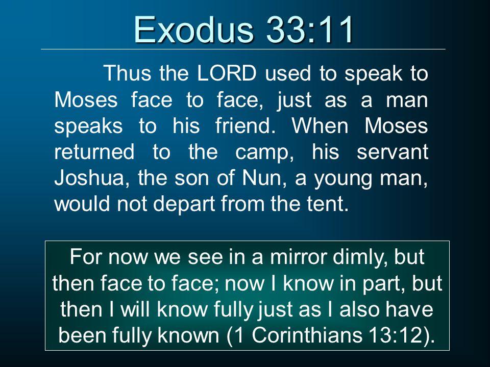 Exodus 33:11