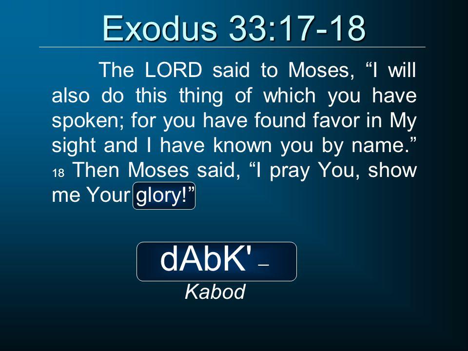 Exodus 33:17-18