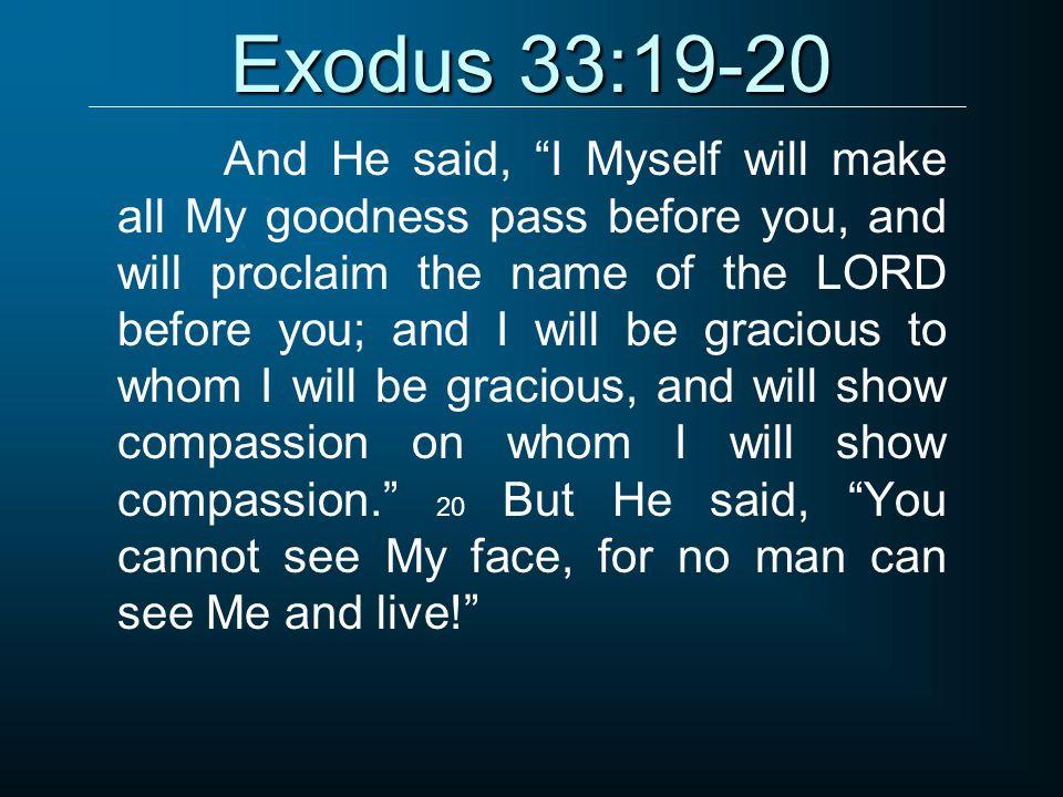 Exodus 33:19-20
