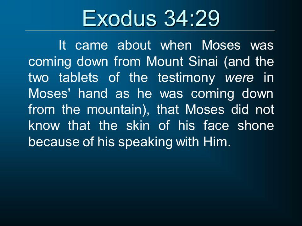 Exodus 34:29