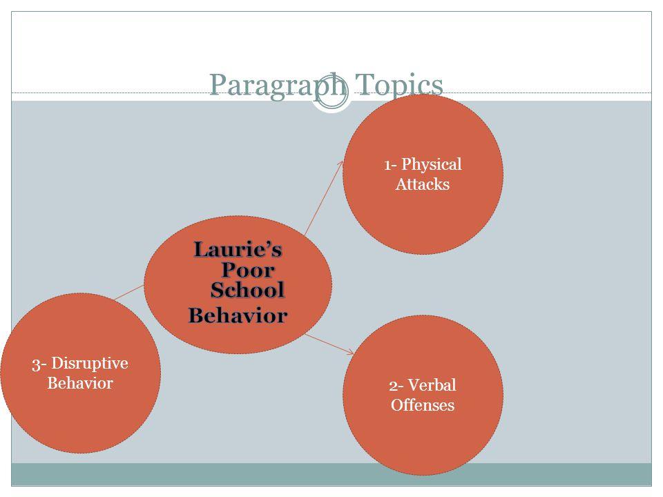Laurie's Poor School Behavior