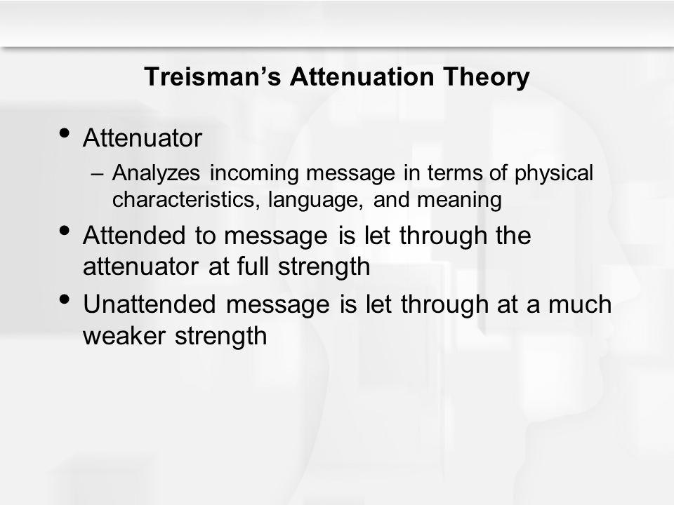 Treisman's Attenuation Theory