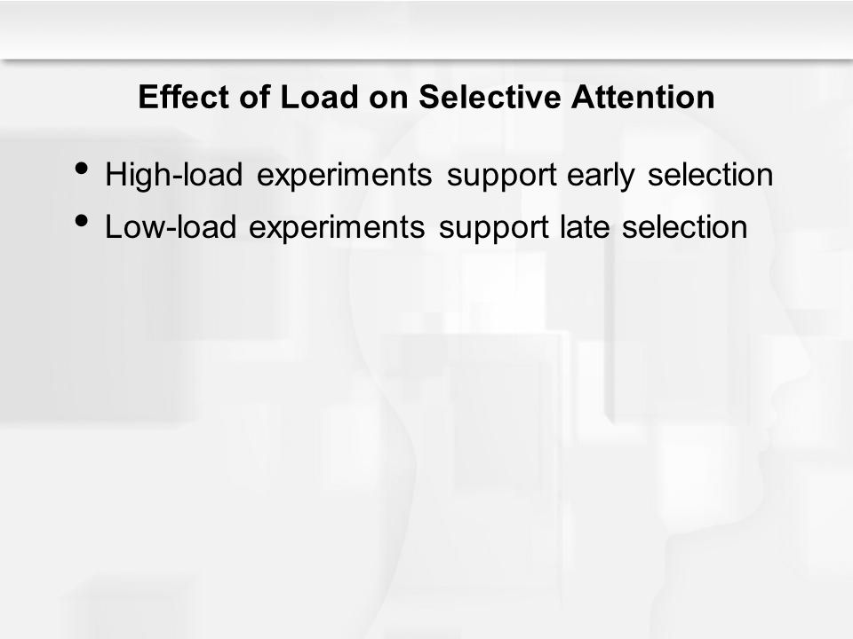Effect of Load on Selective Attention