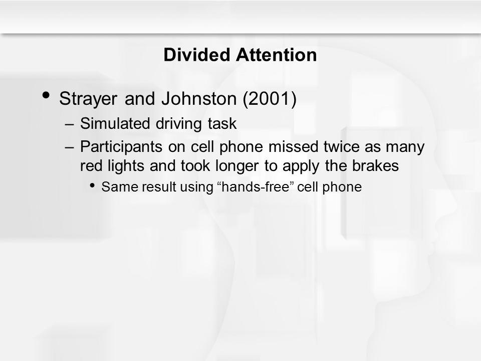 Strayer and Johnston (2001)