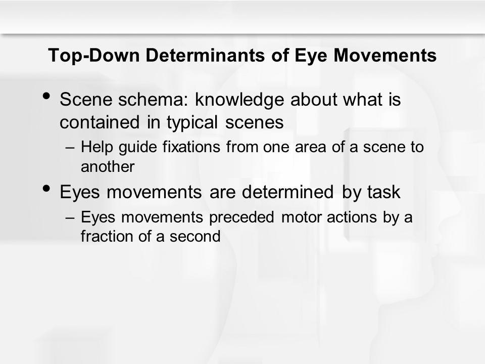 Top-Down Determinants of Eye Movements