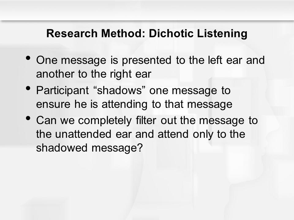 Research Method: Dichotic Listening