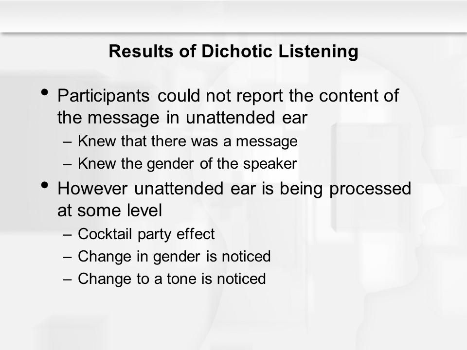 Results of Dichotic Listening