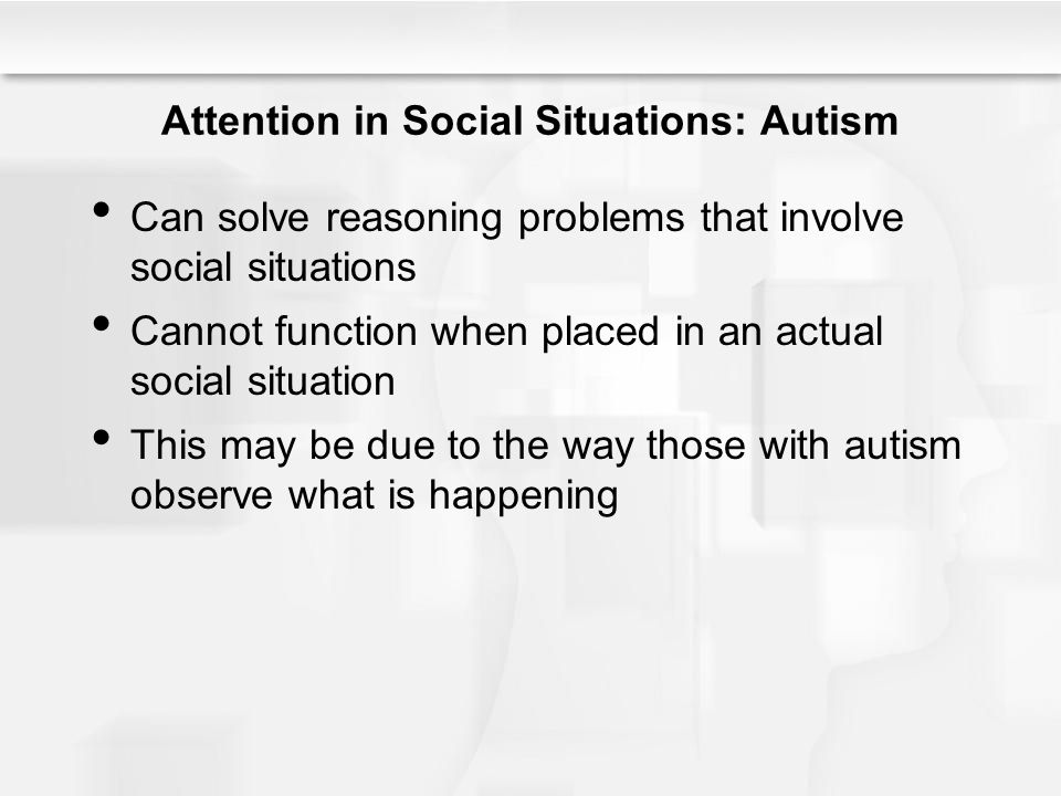 Attention in Social Situations: Autism