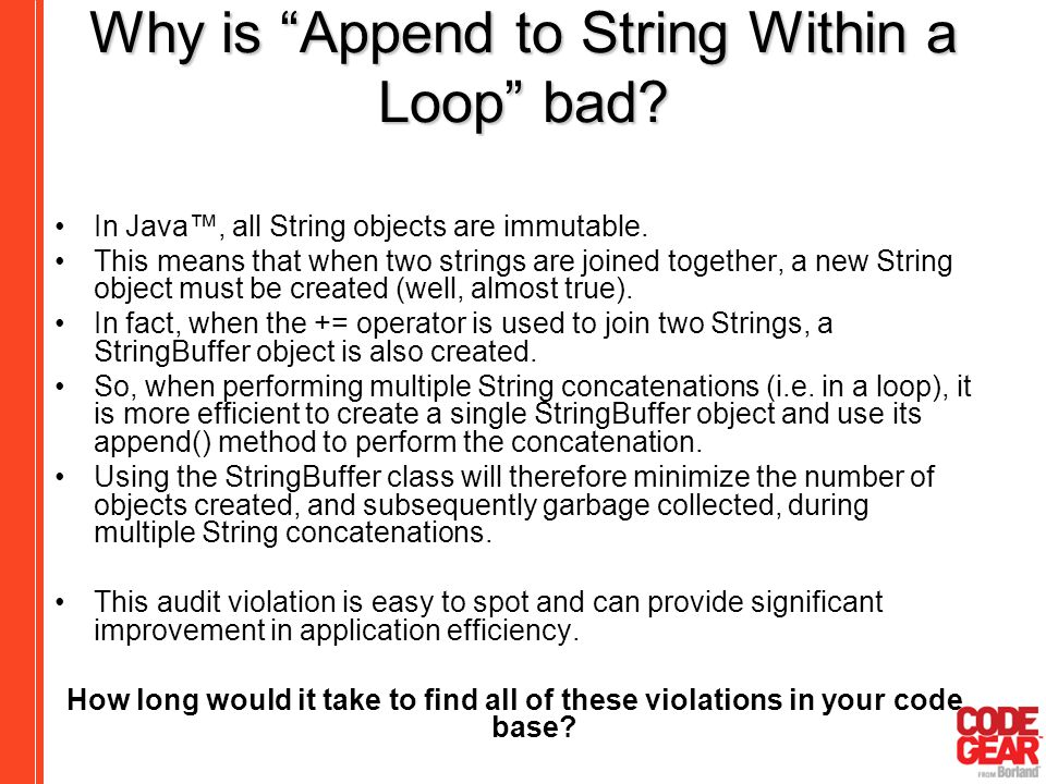 Why is Append to String Within a Loop bad