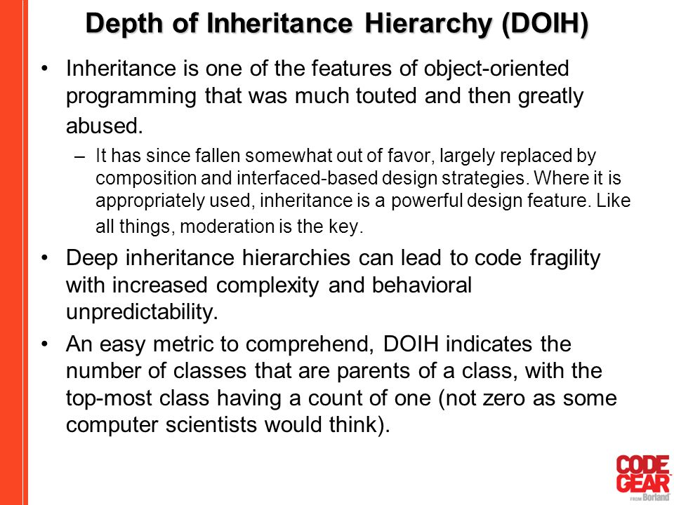 Depth of Inheritance Hierarchy (DOIH)