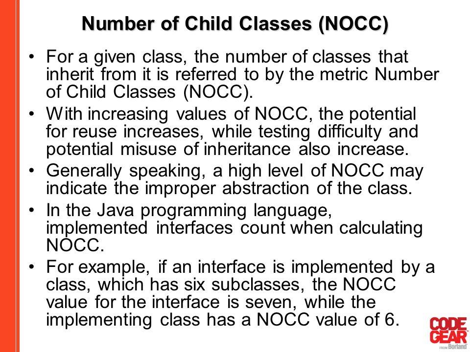 Number of Child Classes (NOCC)