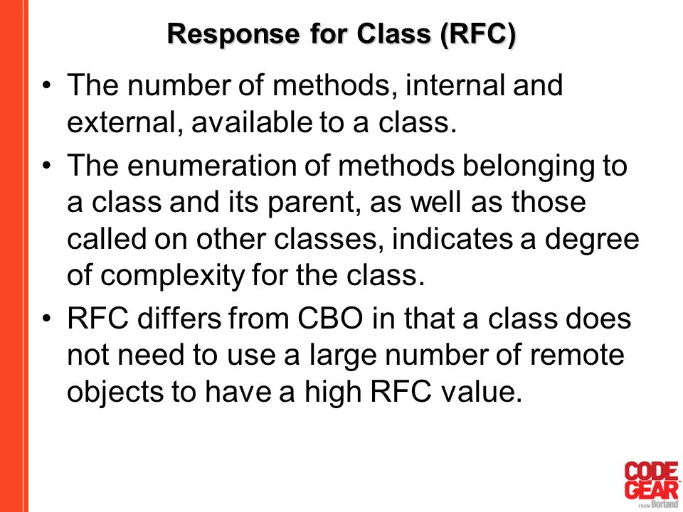 Response for Class (RFC)