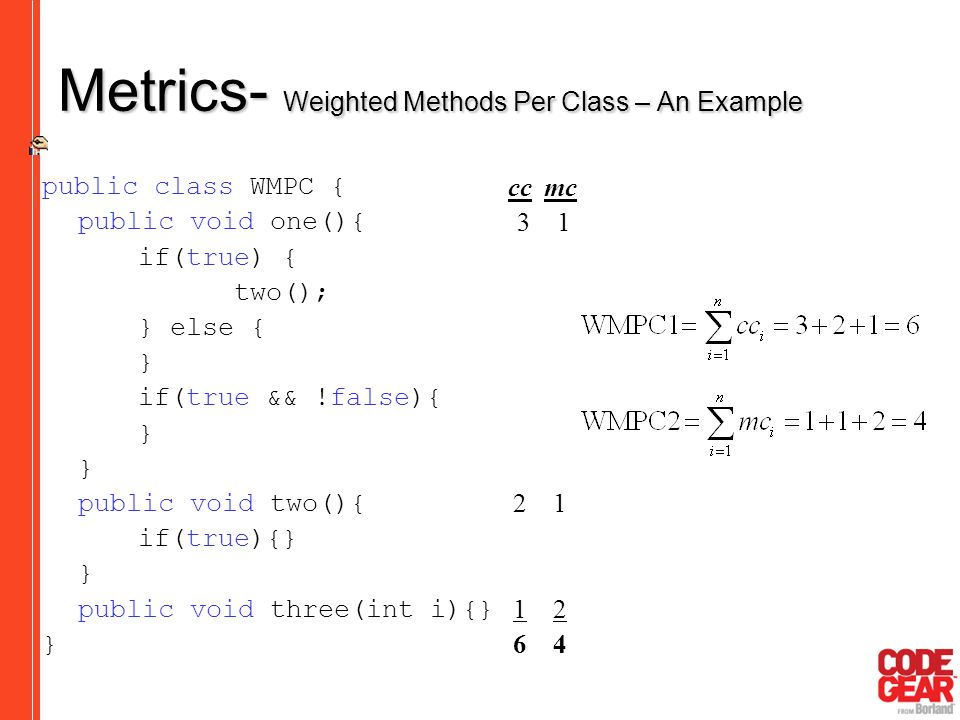 Metrics- Weighted Methods Per Class – An Example