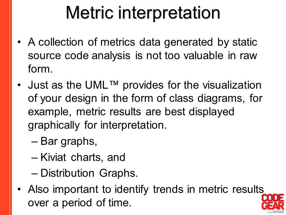 Metric interpretation