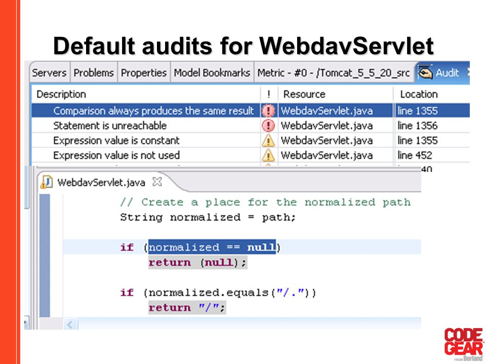 Software remodeling improving design and implementation quality 53 default audits for webdavservlet malvernweather Choice Image