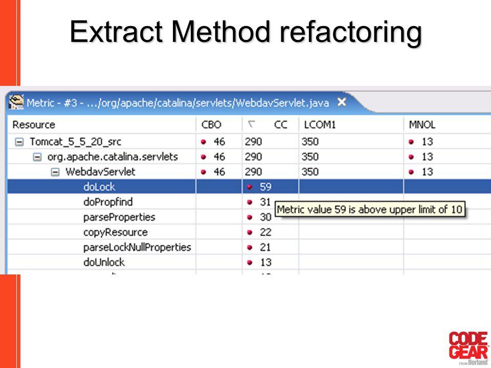 Extract Method refactoring