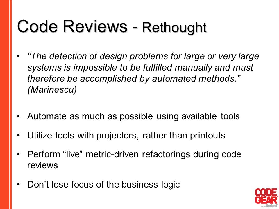 Code Reviews - Rethought