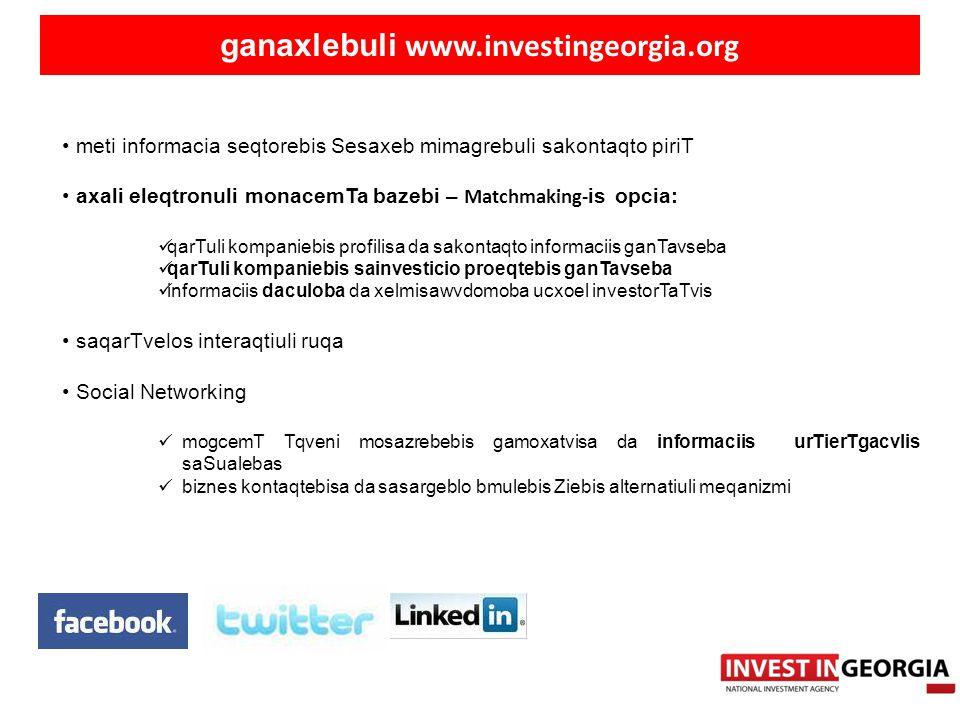 ganaxlebuli www.investingeorgia.org
