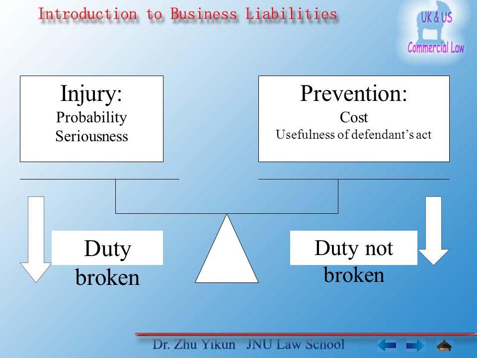 Usefulness of defendant's act