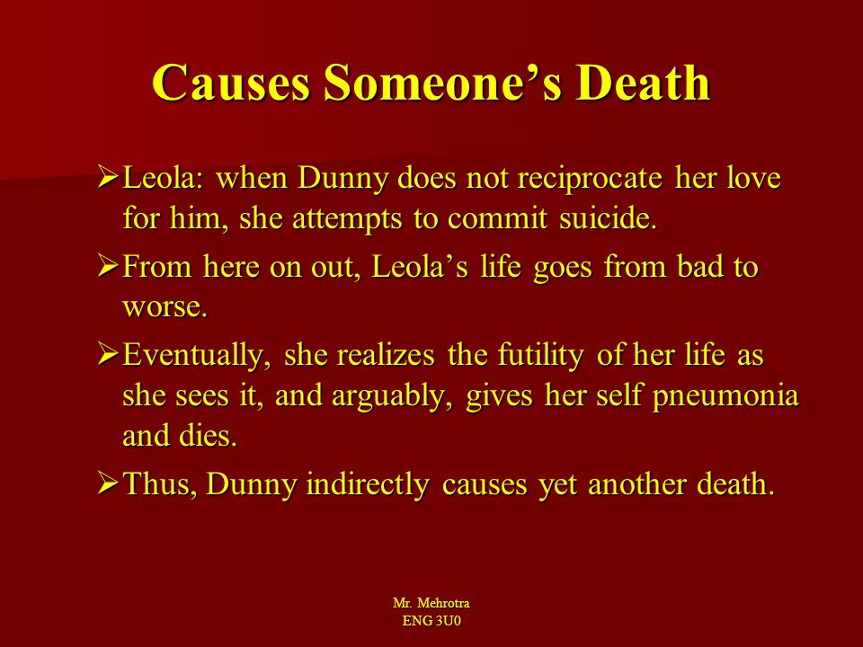 Causes Someone's Death