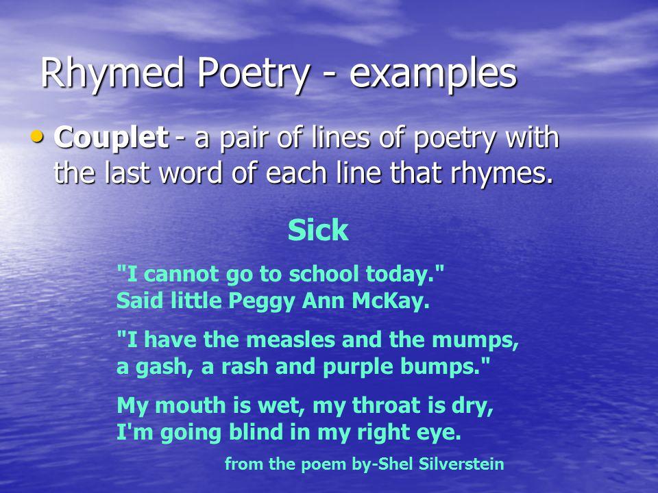 Rhymed Poetry - examples
