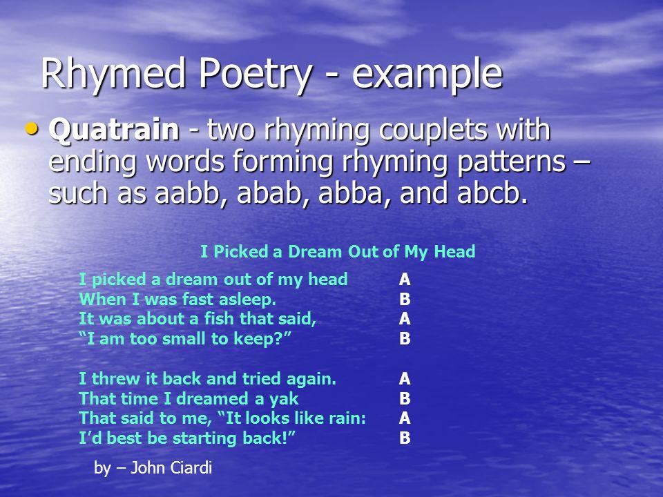 Rhymed Poetry - example