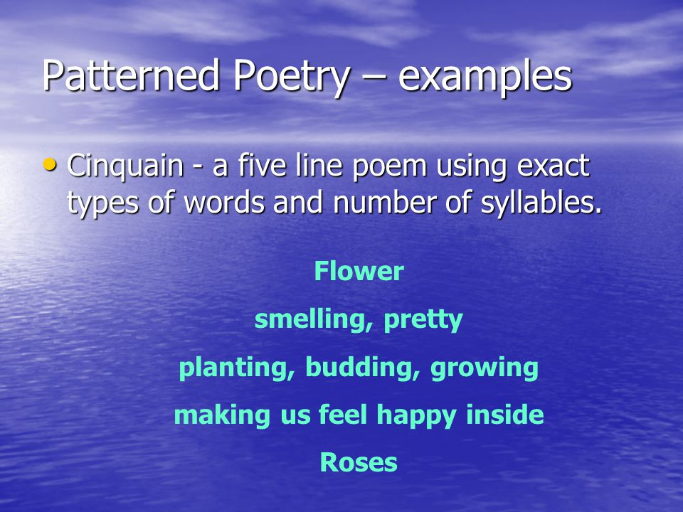 Patterned Poetry – examples