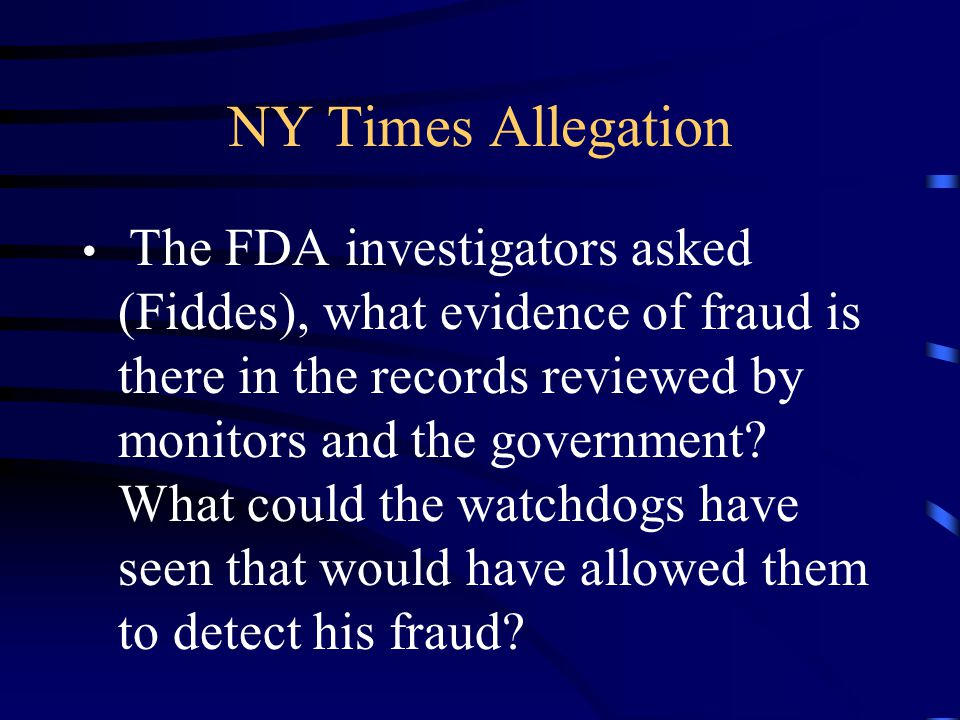 NY Times Allegation