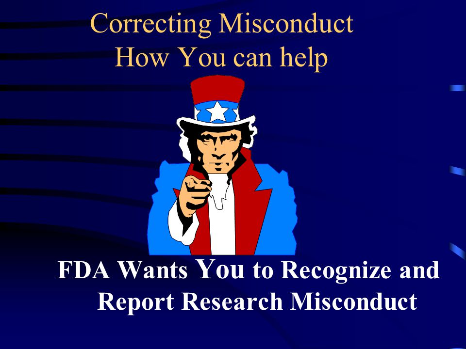 Correcting Misconduct How You can help