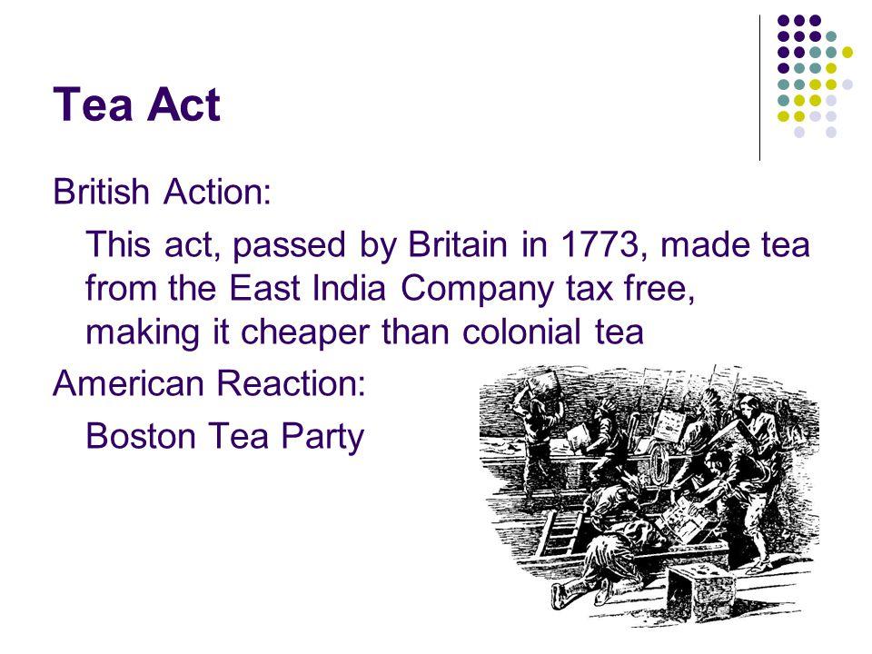 Tea Act British Action: