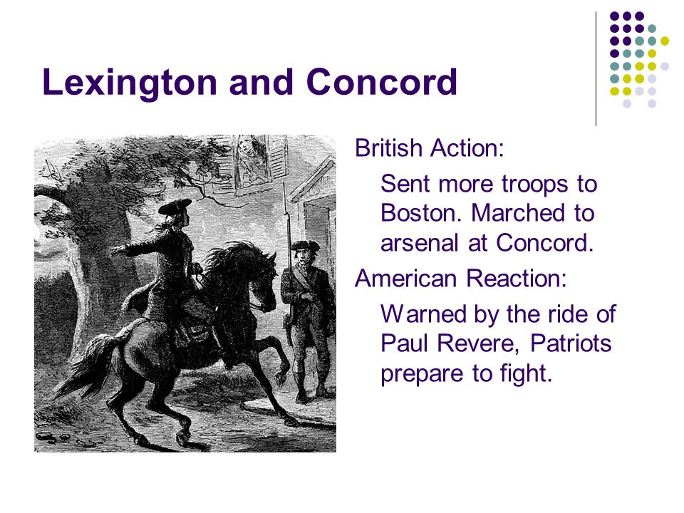 Lexington and Concord British Action:
