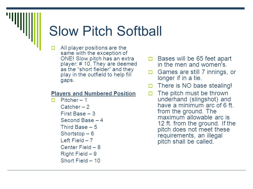 Slow Pitch Softball