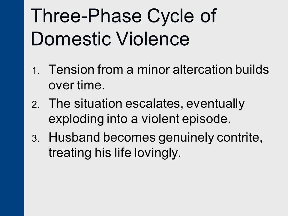 Three-Phase Cycle of Domestic Violence