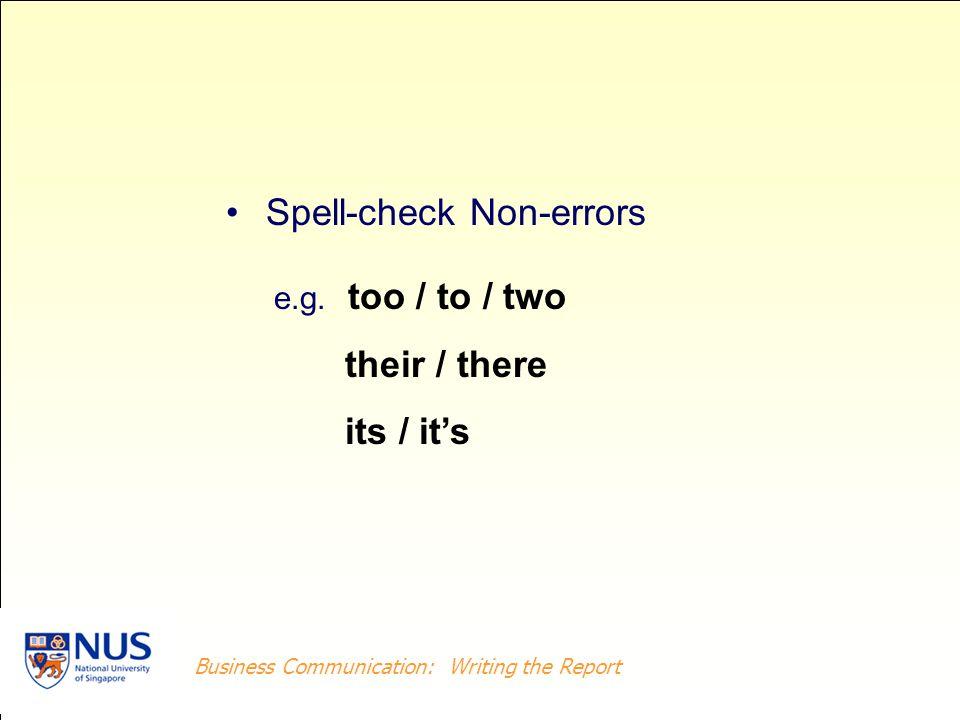 Spell-check Non-errors